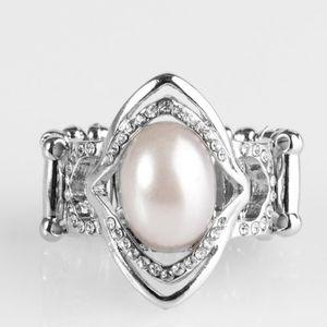 POSITIVELY POSH WHITE RING